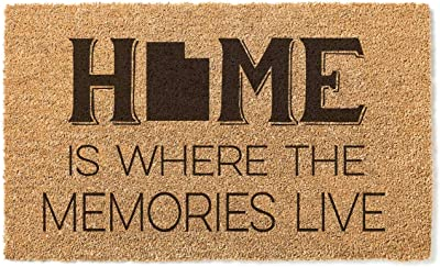 Kindred Hearts 18x30 Coir Doormat Home Memories Live-Utah, Multicolor