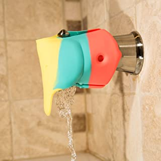 Bath Spout Cover Offers a Soft & Flexible Silicone Bath Faucet Cover for Your Bathtub Great for Baby Bath Safety & Baby Bath Toys Rainbow Colorful Elephant Bathtub Faucet Extender Protector for Baby