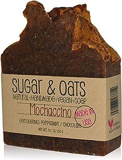 Mochachino, Raw Cacao & Expresso Vegan Exfoliating Soap, Sugar and Oats, Peppermint Chocolate Exfoliating Body Buffer, Cru...