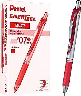 Pentel 0.7 mm Energel Xm Gel Pen Retractable - Red (Pack of 12)