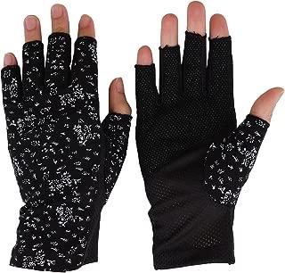 Golf Gloves Womens Sunscreen Gloves Sunblock Fingerless Gloves Summer UV Protection Driving Cotton Gloves Fishing Hiking Driving Gloves Gloves Summer Outdoor Gloves for Lady Girls Sun Gloves UPF 50+