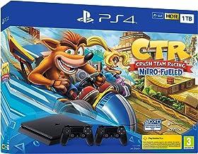 PlayStation 4 (PS4) - Consola, 1 TB, Color Negro + Crash