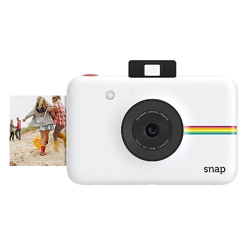 Polaroid Snap - Appareil Photo Numérique Instantané avec la Technologie d'Impression Zink Zero Ink, 10 Mp, Bluetooth, Micro Sd, 5 x 7,6 cm, Blanc