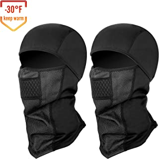 SEVENS 2 PCS Balaclava Ski Mask, Windproof Ski Hood for...