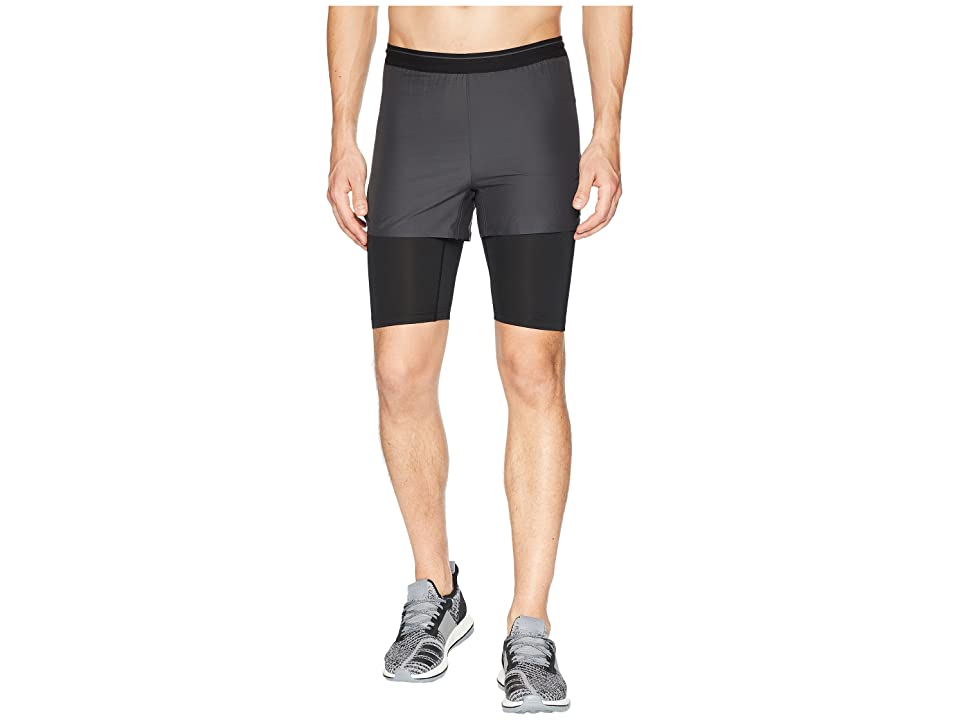 Image of adidas Outdoor Agravic 2-in-1 Parley Shorts (Black) Men's Shorts