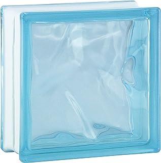 comprar comparacion 6 piezas BM bloques de vidrio nube caribe 19x19x8 cm