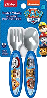 Playtex Mealtime Paw Patrol Utensils for Boys Including 1 Spoon and 1 Fork