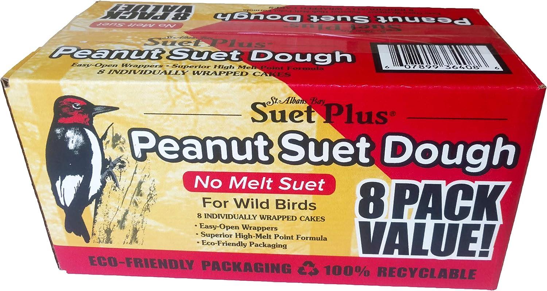 Suet Plus Peanut No Melt Suet Cake 8 Pack 12 oz Each