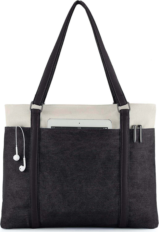 Wxnow Women Popular Laptop Tote Bag Shoulder Canvas Purse Handbag Today's only