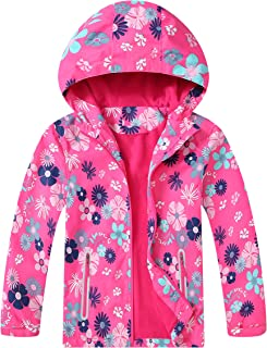 Hiheart Girls Fleece Lined Active Jackets with Heart Pattern