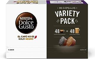 Nescafé DOLCE GUSTO Variety Pack - 3 Estuches Espresso Intenso y 3 Estuches Café Con Leche - Total: 96 Cápsulas