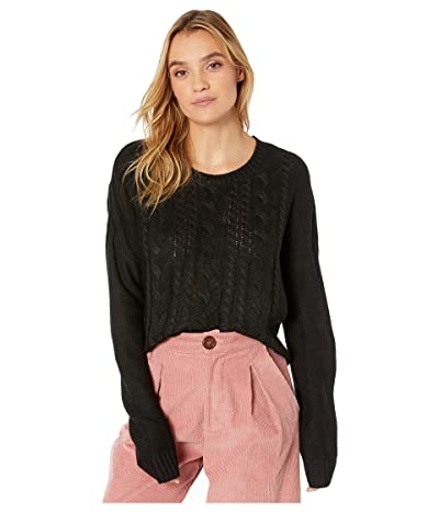 Jack by BB Dakota Off the Cable Sweater (Black) Women