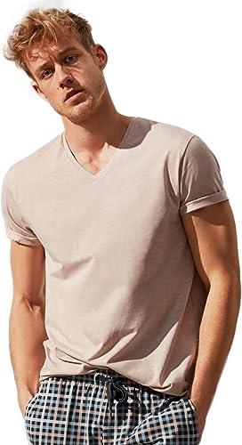 CALIDA - Haut de Pyjama - Uni - Homme - Beige - X-grand