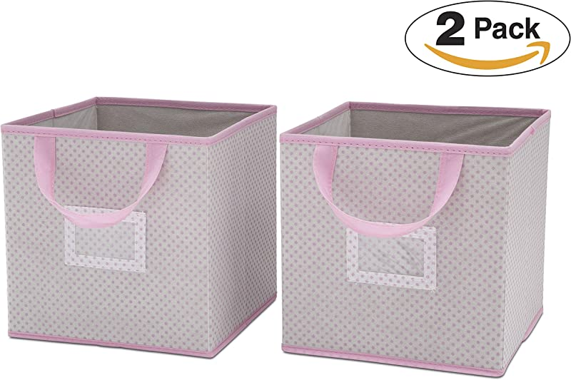 Delta Children 2 Count Nursery Organizer Bin Set Infinity Pink