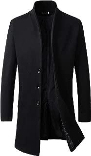 Men's Trench Coat Winter Long Jacket Button Closer Overcoat