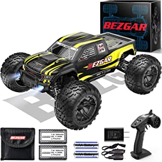 BEZGAR 1 Hobby Grade 1:10 Scale Remote Control Truck with 3 Differentials, Powder Metallurgy Metal 4WD High Speed 48+ kmh ...