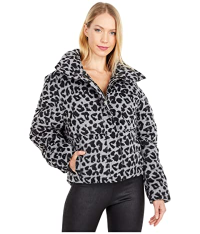 APPARIS Chris Faux Wool Puffer Coat (Noir/Ash Grey) Women