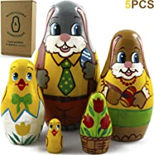 Matryoshka Russian Nesting Dolls - Baby Stuffers Easter Gifts Toys - Easter Bunny Rabbit Decorations