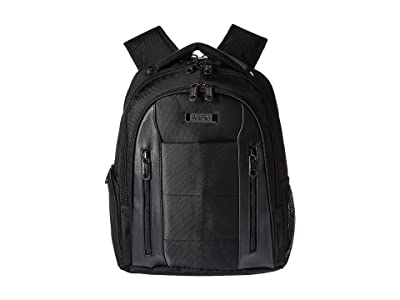 Kenneth Cole Reaction An Easy Pace EZ Scan Polyester Backpack (Black) Backpack Bags