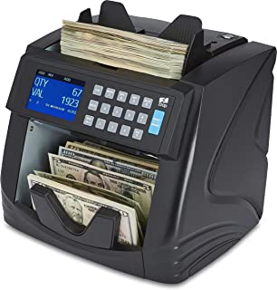 ZZap NC60 Mixed Denomination Bill Counter & Counterfeit Detector - Money Cash Currency Value Machine