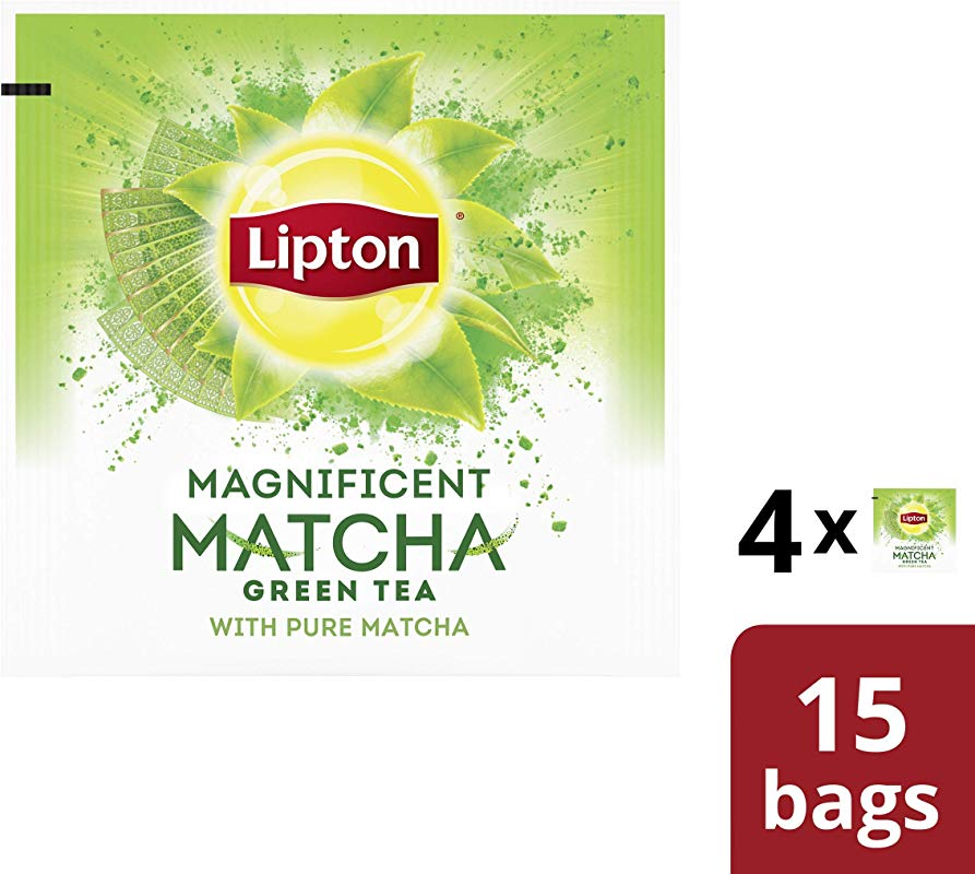 Lipton Magnificent Matcha Green Tea For A Flavor Steeped In Tradition With Matcha 100 Rainforest Alliance Certified 15 Count Pack Of 4