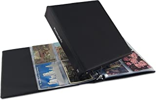 Hobbymaster Postcard Album, Trim Classic Style (Black) holds your post card collection, expandable