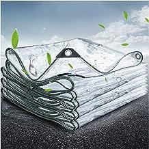 GUOWEI afdekzeil, transparant waterdicht dekzeil, zware PVC-afdekkingen voor dek dak terrasmeubilair buiten, opvouwbaar, a...