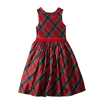 Janie and Jack Ruffle Collar Dress (Toddler/Little Kids/Big Kids) (Red Plaid) Girl