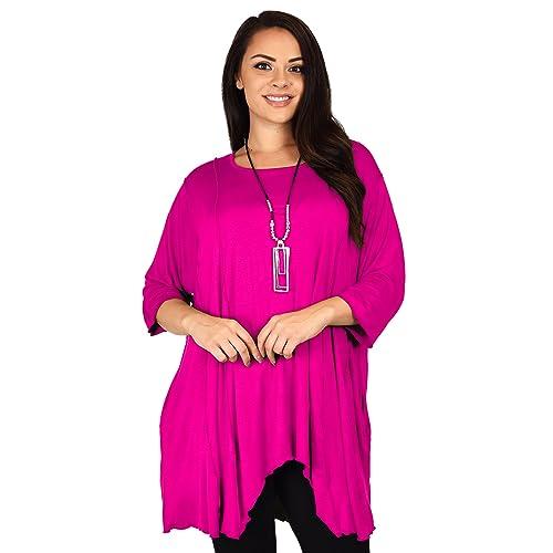48011074b93 Dare2BStylish Women Plus Size Asymmetrical Fishtail Tunic Top w/Side Pockets