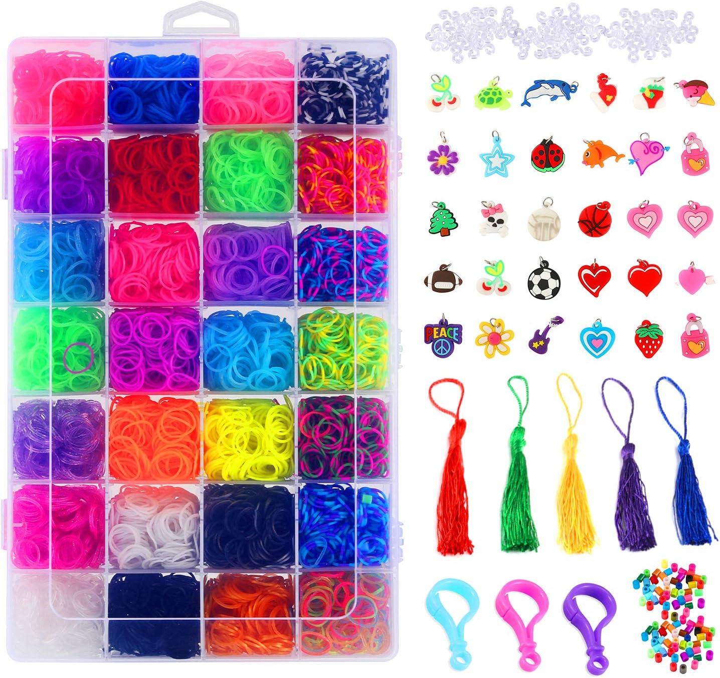 Glonova 11800+ Rubber Ranking TOP17 Bands Bracelet Kids At the price Kit Loom for