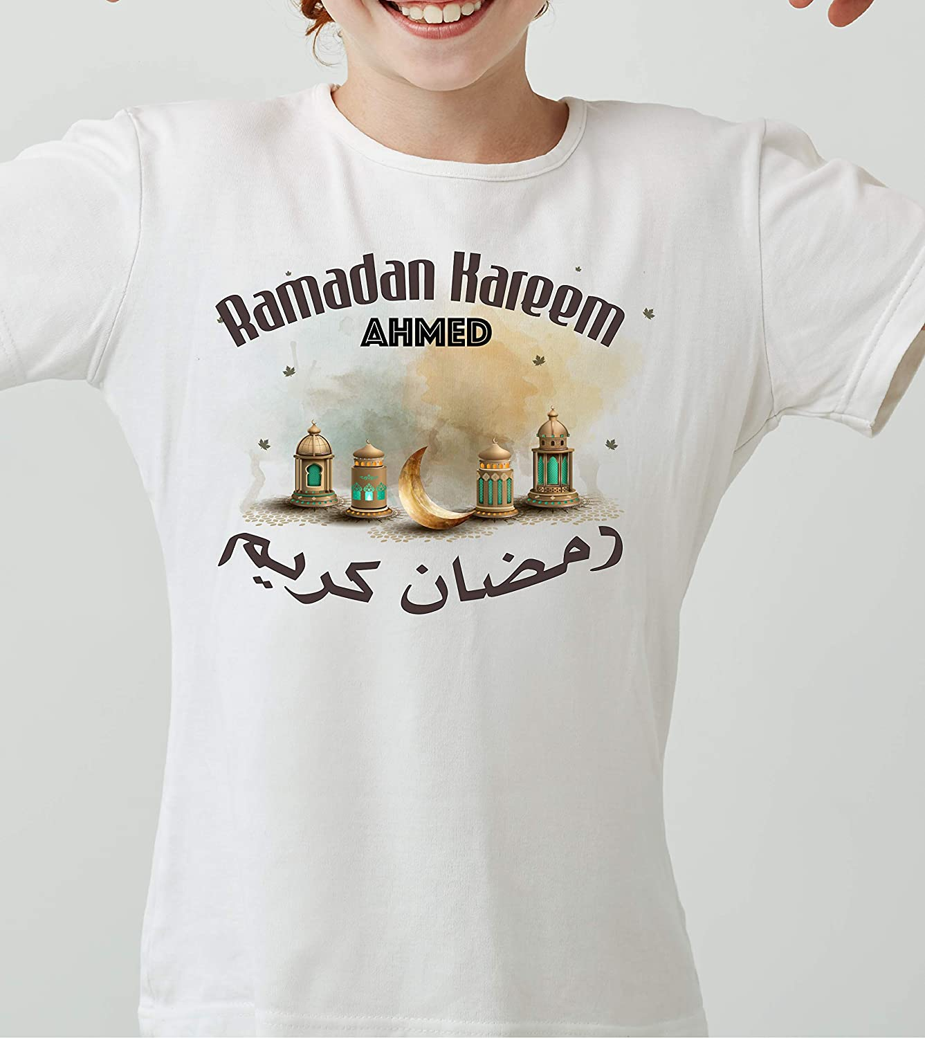Ramadan T-shirtRamadan kids t-shirt Spring new work one after another Gift for Islamic Rama safety