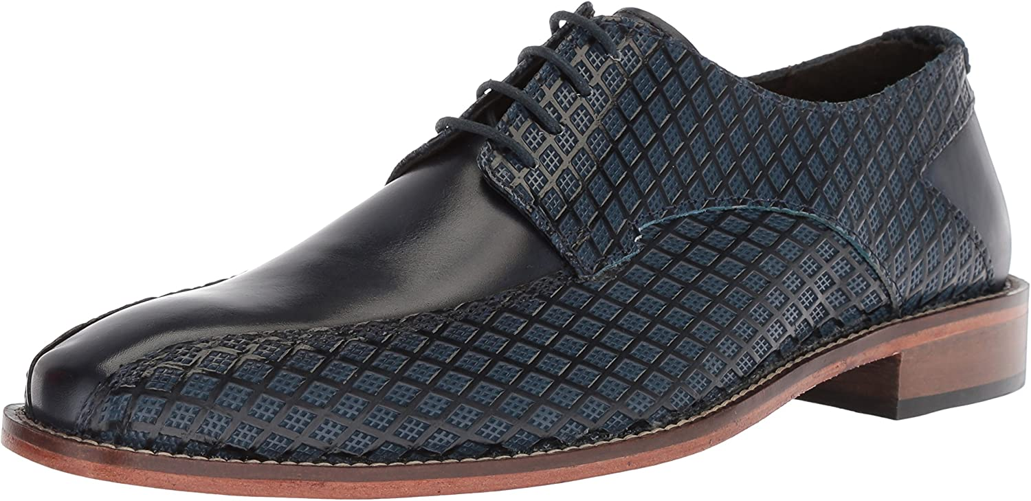 STACY ADAMS Men's Gianluca Bike Toe Oxford, Oxford, Blau, 12 M US  billiger Verkauf
