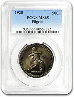 1920 Pilgrim Tercentenary Half Dollar MS-65 PCGS Cent MS-65 PCGS