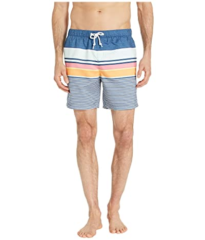 Original Penguin Engineered Stripe Non-Stretch Swim Shorts (Sargasso Sea) Men