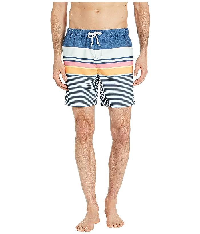 81ddcfc1e29f1 Original Penguin Engineered Stripe Non-Stretch Swim Shorts (Sargasso Sea)  Men