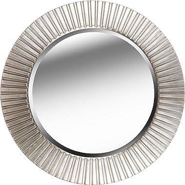 Kenroy Home North Beach Wall Mirror, 34 Inch Diameter, Silver Finish