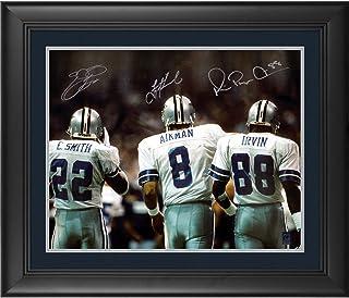 9bc148f5a Troy Aikman, Michael Irvin, Emmitt Smith Dallas Cowboys Framed Autographed  16