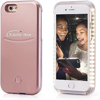 iPhone 7 Plus Case, iKNOWTECH Luxury Night Selfie Light Cover Bumper Case Photo Self LED lightning for Apple iPhone 7 Plus 5.5