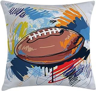 MB00078658 Azeeda Ballon de Rugby Tirelire en Bois