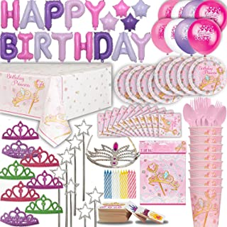 Cutlery Mermaid Party Set 8 Guest Small and Large Plates Candles Cups Mini Bendable Dolls Tablecover Ultimate under the Sea Birthday Favor Bags Foil Balloon HAPPY BIRTHDAY Banner Napkins