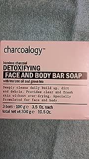 charcoalogy bamboo charcoal detoxifying face sd body soap bar soap