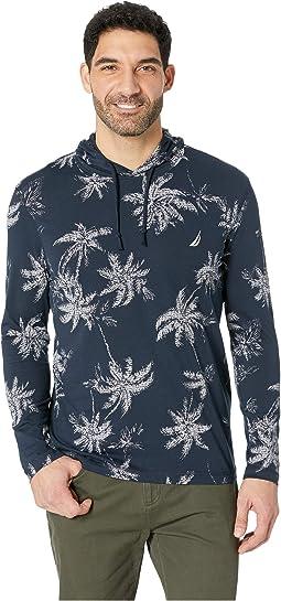 Long Sleeve Palm Print Hoodie