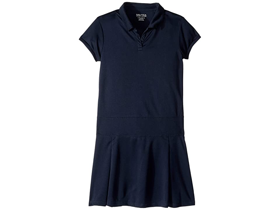 Nautica Kids Pleated Performance Dress (Big Kids) (Navy) Girl