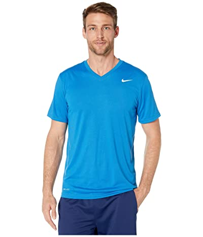 Nike Legend 2.0 Short Sleeve V-Neck Tee (Battle Blue/White) Men