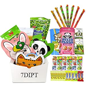 Asian Variety Snack Box Gift Basket for Adults, College Student & Military Care Package - Birthday Package for Dad, Men, Women, Boys, Girls, Teens, Kids (20 Snack Bundle)