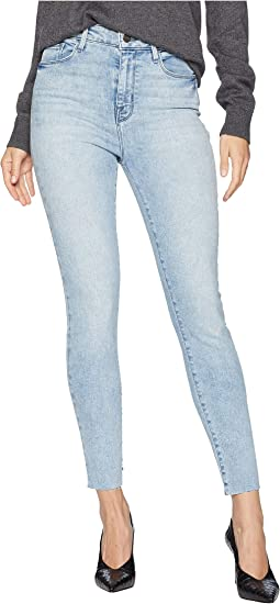 Social High Rise Ankle Skinny Jeans in Whiskey Blue