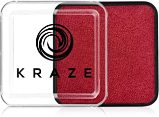 Kraze FX Square - Metallic Red Face Paint (25 gm) - Hypoallergenic, Non-Toxic, Water Activated Professional Face & Body Pa...