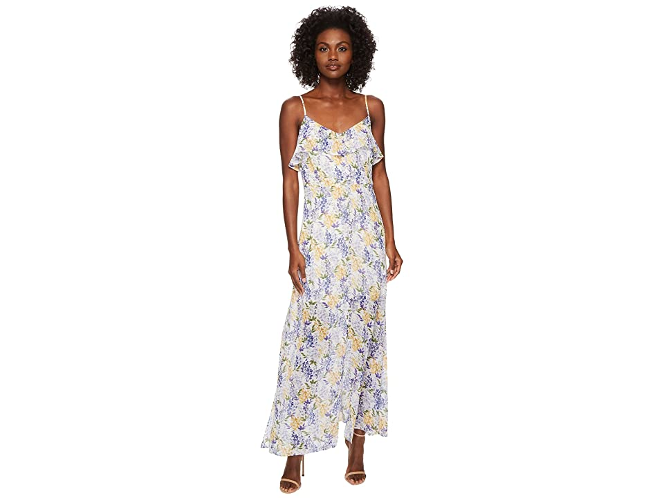 CeCe Liza Sleeveless Floral Maxi Dress (New Ivory) Women