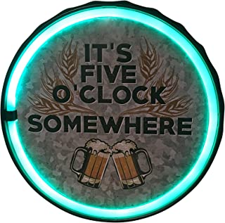 It's Five O'Clock Somewhere LED Neon Rope Sign, 12