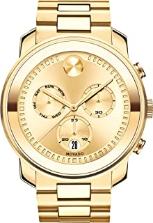 Men's BOLD Large Metals Chronograph Watch with a Printed Index Dial, Gold (3600485)